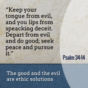 The importance of the distinction between good and evil according to the bible