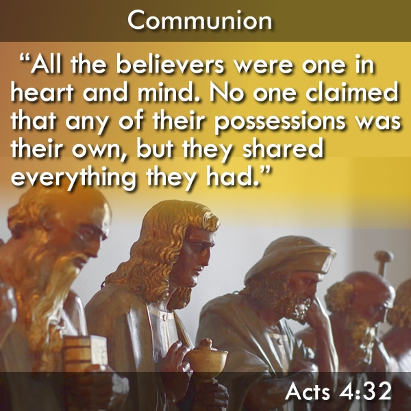 The meaning of communion according to the Bible