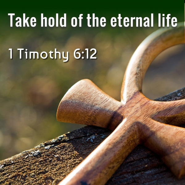 Take hold of the eternal life, Timothy 6:12