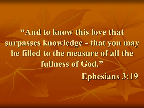 Walking in the fullness of god, ephesians 3:19. What it means and how to achieve it.