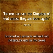 No one can see the kingdom of god unless they are born again, John 3:3. Interpretation