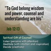 Spiritual Gift of Counsel