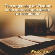 The spiritual search begins with the desire for instruction
